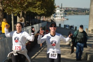 Carrie & Joy (Louisville Marathon)